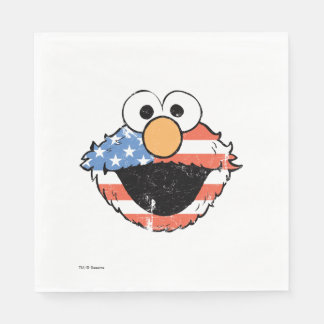Patriotic Elmo - Distressed Paper Serviettes
