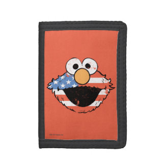 Patriotic Elmo - Distressed Trifold Wallet