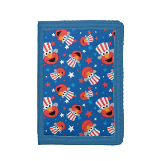 Patriotic Elmo Pattern Trifold Wallet