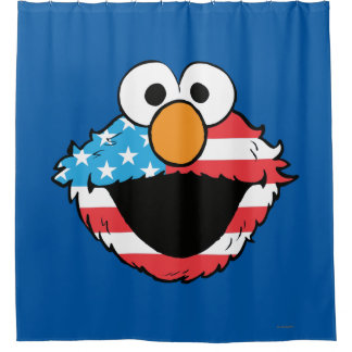 Patriotic Elmo Shower Curtain