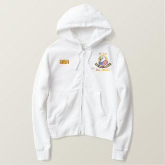 Patriotic Embroidery Embroidered Hooded Sweatshirts