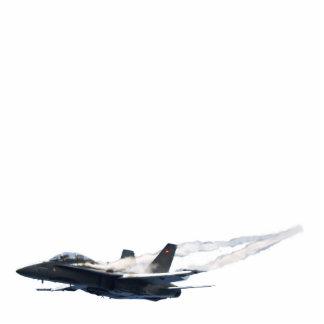 Patriotic F/A-18 Hornet Jet-Fighter Magnet Photo Sculpture Magnet