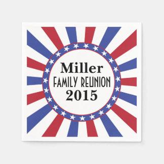 Patriotic Family Reunion Disposable Serviette
