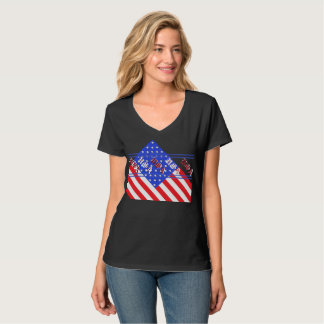 Patriotic Fashion American Flag Red White Blue USA T-Shirt