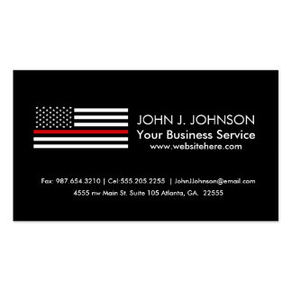 Patriotic Firefighter Style American Flag Pack Of Standard Business Cards
