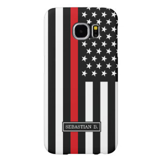 Patriotic Firefighter Style American Flag Samsung Galaxy S6 Cases
