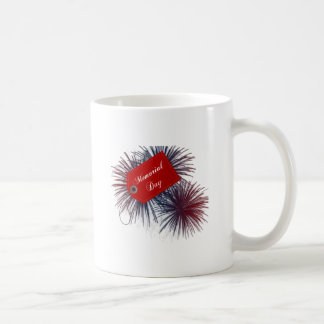 Patriotic Fireworks for Memorial Day Classic White Coffee Mug