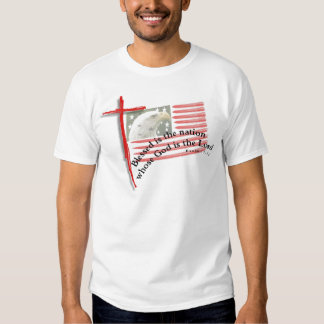 Patriotic Flag and Cross T Shirt