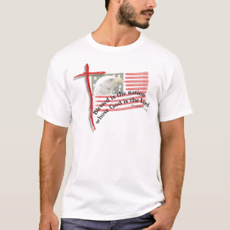 Patriotic Flag and Cross T-Shirt