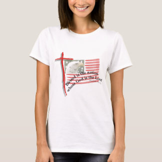 Patriotic Flag and Cross T-Shirt