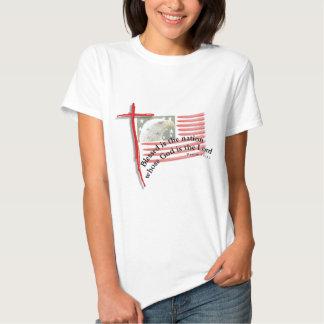 Patriotic Flag and Cross Tee Shirt