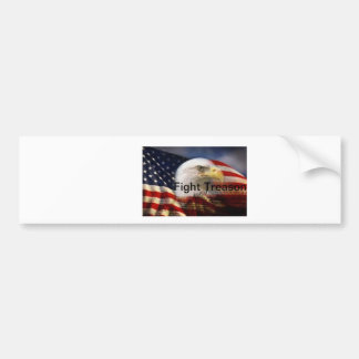 Patriotic flag and eagle bumper sticker