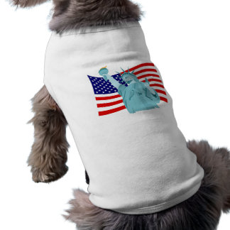 Patriotic Flag Design Sleeveless Dog Shirt