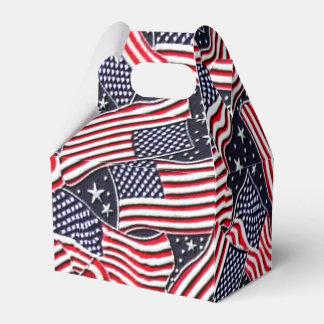 Patriotic Flag Holiday gable favor box