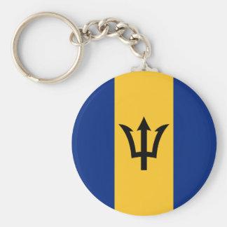 Patriotic Flag of Barbados Key Ring