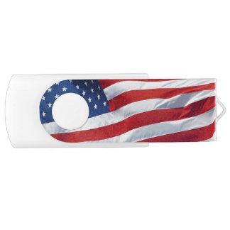 Patriotic Flag of the USA, United States Flag Swivel USB 2.0 Flash Drive