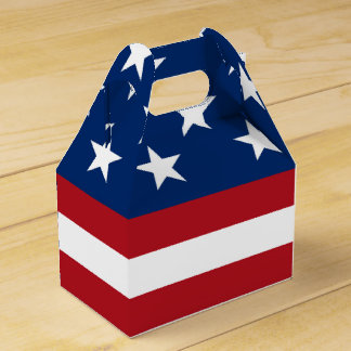 Patriotic Flag pattern July Fourth Party box