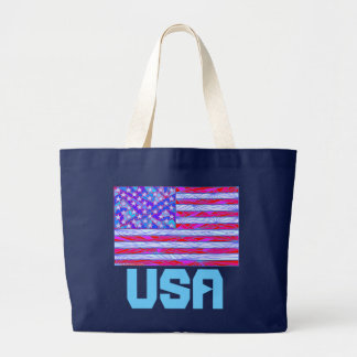 Patriotic Flag Red White And Blue Canvas Tote Bag