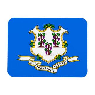 Patriotic flexible magnet with Connecticut flag