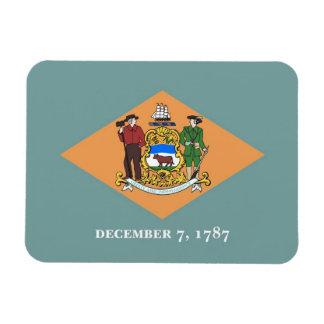 Patriotic flexible magnet with Delaware flag