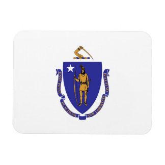 Patriotic flexible magnet with Massachusetts flag