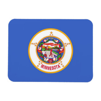 Patriotic flexible magnet with Minnesota flag