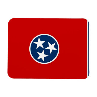 Patriotic flexible magnet with Tennessee flag