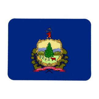 Patriotic flexible magnet with Vermont State flag