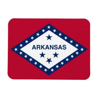 Patriotic flexible photo magnet with Arkansas flag