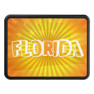 Patriotic Florida the Sunshine state Flag and Sun Hitch Cover
