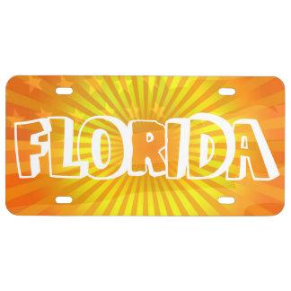 Patriotic Florida the Sunshine state License Plate