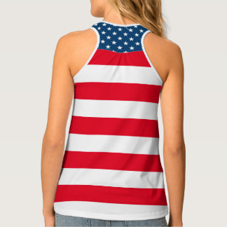 Patriotic Fourth 4th of July tank top for women