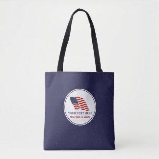 Patriotic Fourth of July American USA Flag Custom Tote Bag