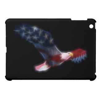Patriotic Fractal Bald Eagle iPad Mini Case