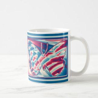 Patriotic Fractal Butterfly Coffee Mug