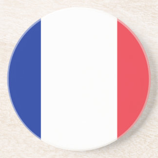 Patriotic French Flag Drink Coasters