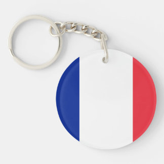 Patriotic French Flag Key Ring