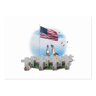 Patriotic Geese Saluting The American Flag Pack Of Chubby Business Cards