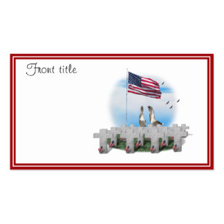 Patriotic Geese Saluting The American Flag Pack Of Standard Business Cards