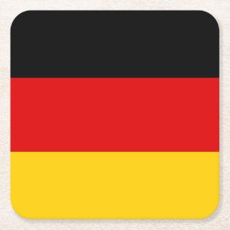 Patriotic German Flag Square Paper Coaster
