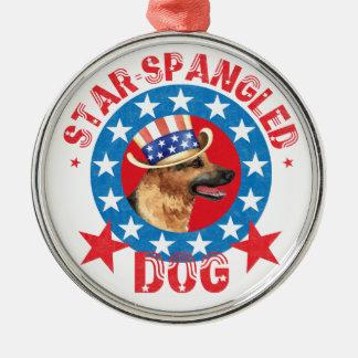 Patriotic German Shepherd Christmas Ornament