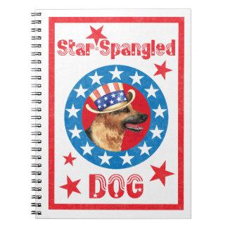 Patriotic German Shepherd Spiral Notebook