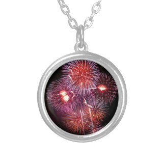 Patriotic Gifts Fireworks from the 4th of July Custom Necklace