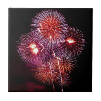 Patriotic Gifts Fireworks from the 4th of July Small Square Tile