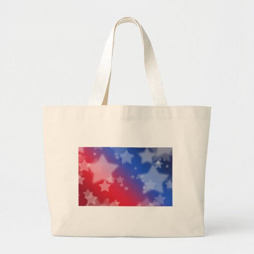 Patriotic Gifts Stars Red White Blue Canvas Bag