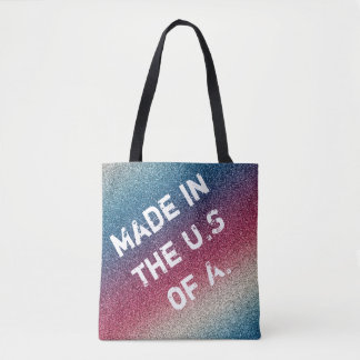 Patriotic Glitter Bag, Independence Day Gift Tote Bag