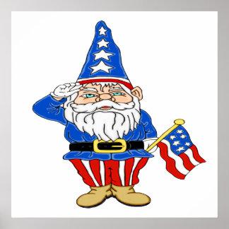 Patriotic Gnome Poster