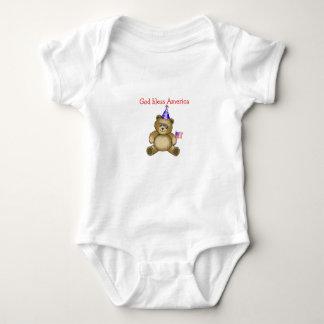"Patriotic ""God bless America"" Baby Bodysuit"