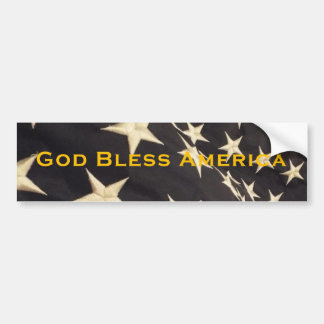 "Patriotic ""God Bless America"" Bumper Sticker"