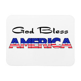 Patriotic God Bless America Rectangular Photo Magnet